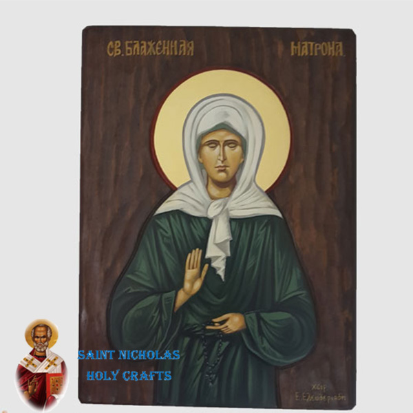 Olive-Wood-Saint-Nicholas-Holy-Crafts-Olive-Wood-Matrona-Painted-Icon