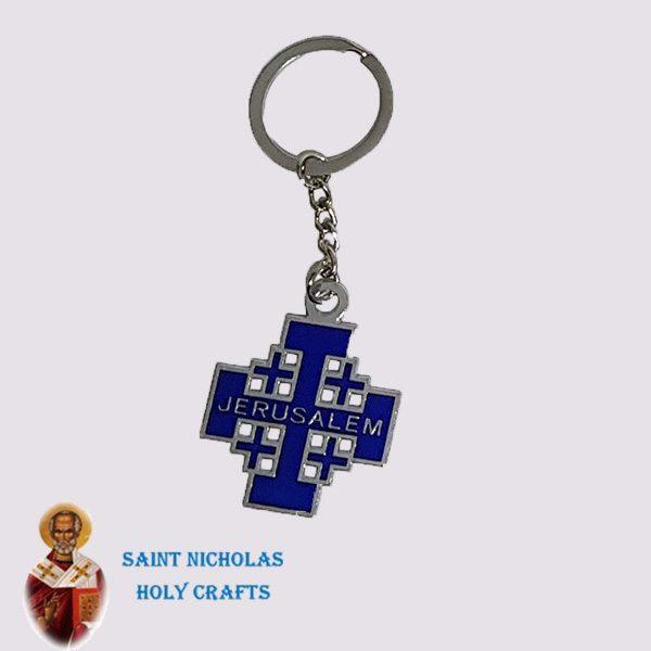 Olive-Wood-Saint-Nicholas-Holy-Crafts-Olive-Wood-Metal-Key-Chain