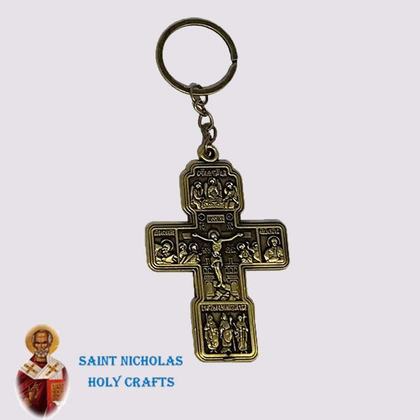 Olive-Wood-Saint-Nicholas-Holy-Crafts-Olive-Wood-Metal-Key-Chain2