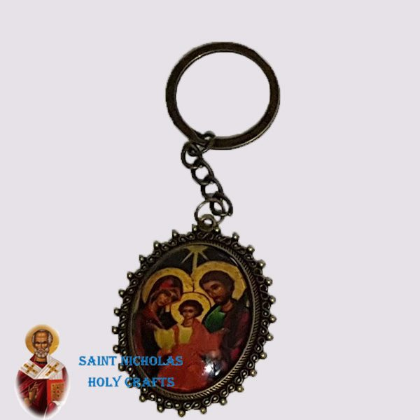 Olive-Wood-Saint-Nicholas-Holy-Crafts-Olive-Wood-Metal-Key-Chain3