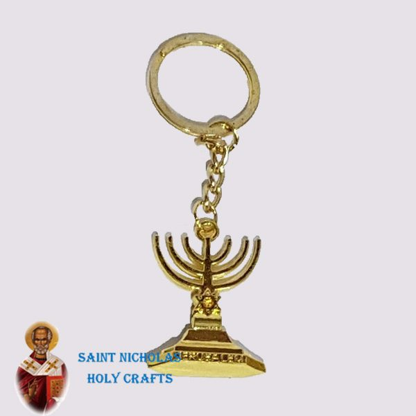Olive-Wood-Saint-Nicholas-Holy-Crafts-Olive-Wood-Metal-Key-Chain4