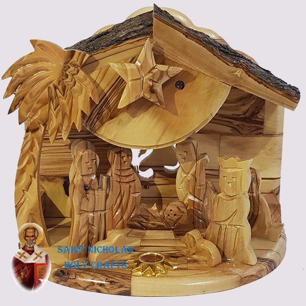 Olive-Wood-Saint-Nicholas-Holy-Crafts-Olive-Wood-Music-Nativity-Set