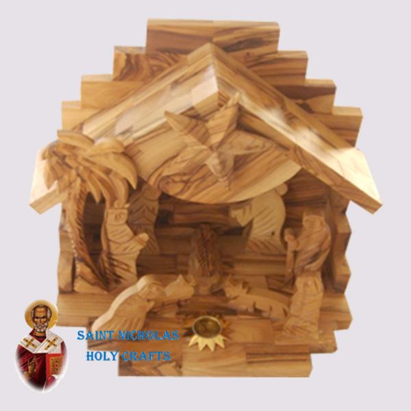 Olive-Wood-Saint-Nicholas-Holy-Crafts-Olive-Wood-Nativity-Set