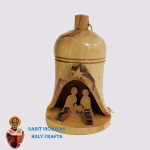 Olive-Wood-Saint-Nicholas-Holy-Crafts-Olive-Wood-Olive-Wood-Bell-Ornament