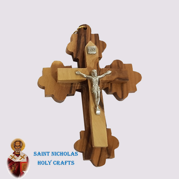 Olive-Wood-Saint-Nicholas-Holy-Crafts-Olive-Wood-Olive-Wood-Lace-Cross
