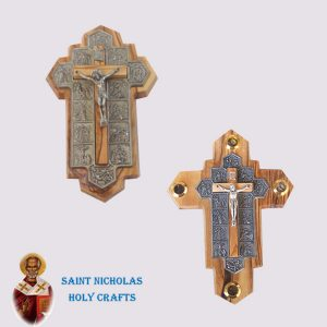 Olive-Wood-Saint-Nicholas-Holy-Crafts-Olive-Wood-Olive-Wood-Metal-Stations-Cross