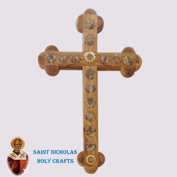 Olive-Wood-Saint-Nicholas-Holy-Crafts-Olive-Wood-Olive-Wood-Stations-Cross