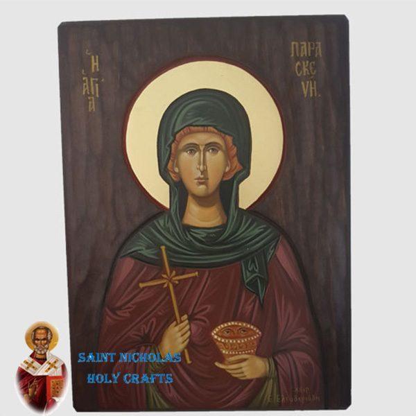 Olive-Wood-Saint-Nicholas-Holy-Crafts-Olive-Wood-Paraskiva-Hand-Painted-Icon