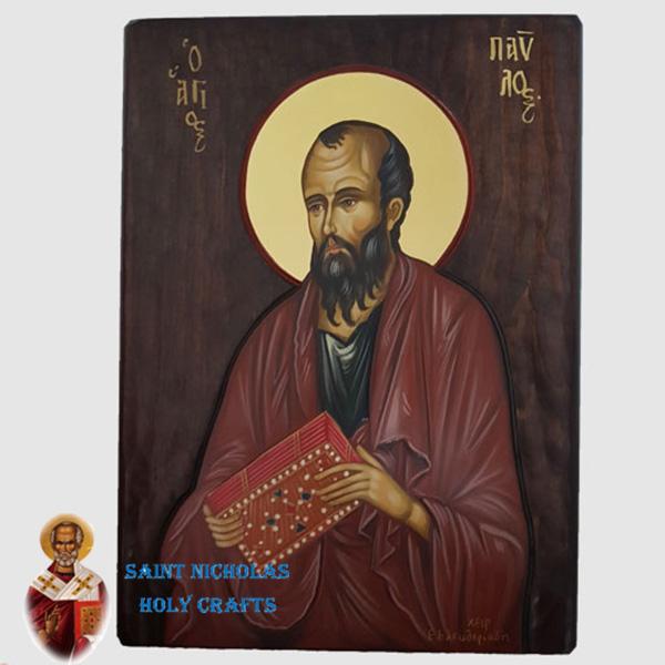 Olive-Wood-Saint-Nicholas-Holy-Crafts-Olive-Wood-Paul-Hand-Painted-Icon