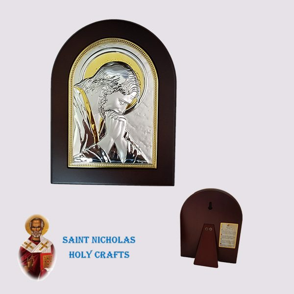 Olive-Wood-Saint-Nicholas-Holy-Crafts-Olive-Wood-Praying-Jesus-Nikolaus-Silver-Icon