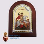 Olive-Wood-Saint-Nicholas-Holy-Crafts-Olive-Wood-Saint-George-Frame-Nikolaus-Silver-Icon