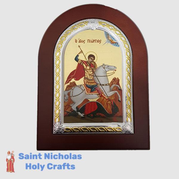 Olive-Wood-Saint-Nicholas-Holy-Crafts-Olive-Wood-Saint-George-Frame-Nikolaus-Silver-Icon