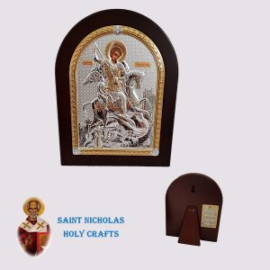 Olive-Wood-Saint-Nicholas-Holy-Crafts-Olive-Wood-Saint-George-Nikolaus-Silver-Icon