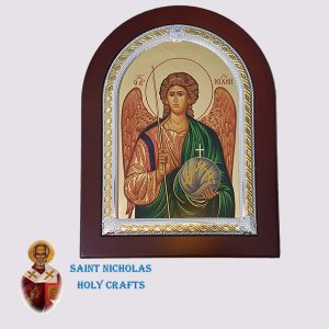 Olive-Wood-Saint-Nicholas-Holy-Crafts-Olive-Wood-Saint-Michael-Frame-Nikolaus-Silver-Icon