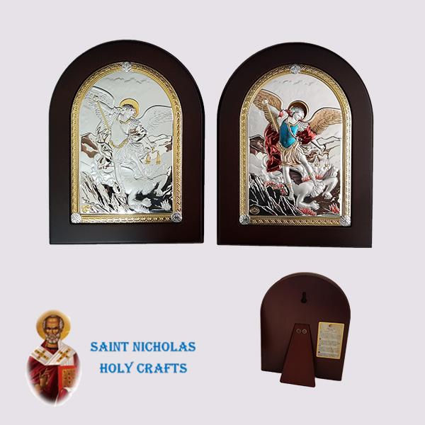 Olive-Wood-Saint-Nicholas-Holy-Crafts-Olive-Wood-Saint-Micheal-Nikolaus-Silver-Icon