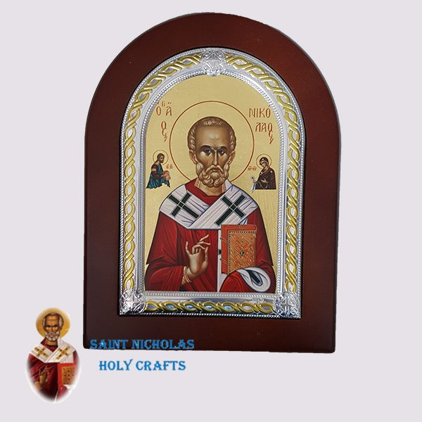 Olive-Wood-Saint-Nicholas-Holy-Crafts-Olive-Wood-Saint-Nicholas-Frame-Nikolaus-Silver-Icon
