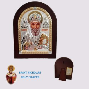 Olive-Wood-Saint-Nicholas-Holy-Crafts-Olive-Wood-Saint-Nicholas-Nikolaus-Silver-Icon