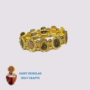 Olive-Wood-Saint-Nicholas-Holy-Crafts-Olive-Wood-Saints-Metal-Bracelet
