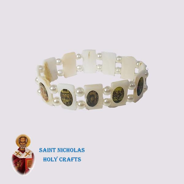 Olive-Wood-Saint-Nicholas-Holy-Crafts-Olive-Wood-Saints-Mother-Of-Pearl-Bracelet