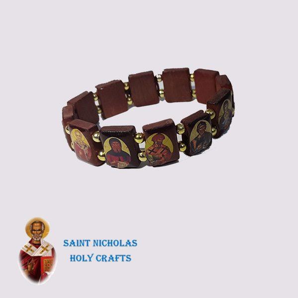 Olive-Wood-Saint-Nicholas-Holy-Crafts-Olive-Wood-Saints-Wood-Bracelet