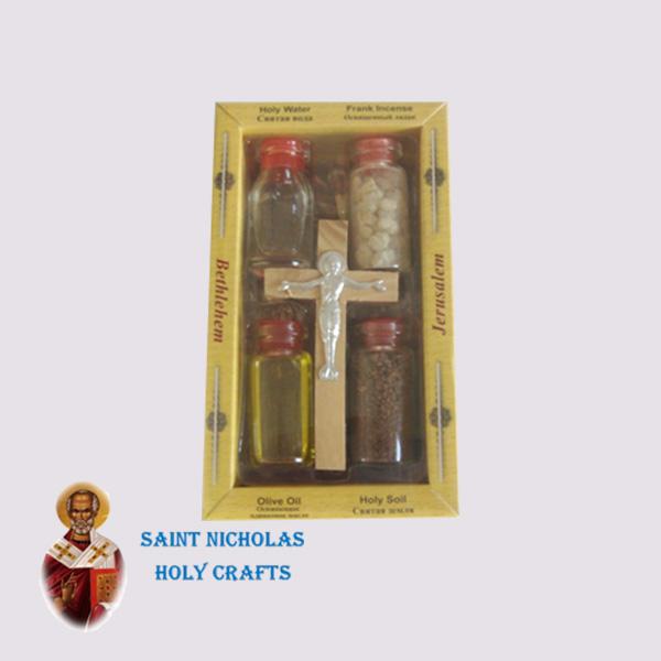 Olive-Wood-Saint-Nicholas-Holy-Crafts-Olive-Wood-Set-Of-4-Bottles-With-Cross