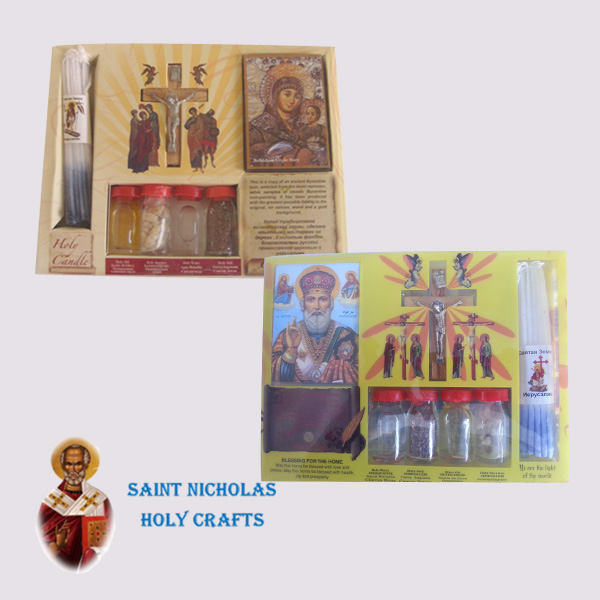 Olive-Wood-Saint-Nicholas-Holy-Crafts-Olive-Wood-Set-Of-4-Bottles-With-Cross-Icon-and-Candle