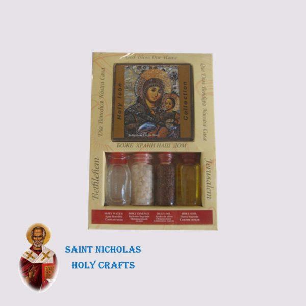 Olive-Wood-Saint-Nicholas-Holy-Crafts-Olive-Wood-Set-Of-4-Bottles-With-Icon