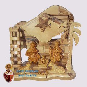 Olive-Wood-Saint-Nicholas-Holy-Crafts-Olive-Wood-Small-Ladder-Nativity-Set