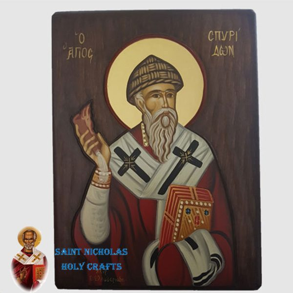 Olive-Wood-Saint-Nicholas-Holy-Crafts-Olive-Wood-Spiridon-Hand-Painted-Icon