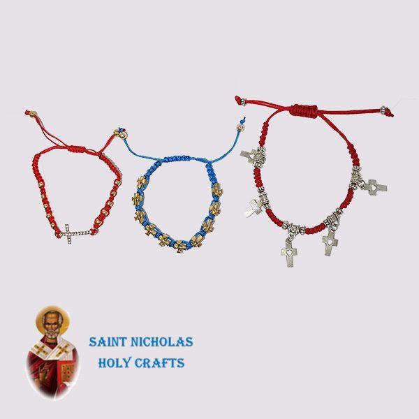 Olive-Wood-Saint-Nicholas-Holy-Crafts-Olive-Wood-Thread-Bracelet-With-Pendants
