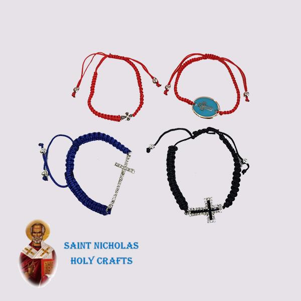 Olive-Wood-Saint-Nicholas-Holy-Crafts-Olive-Wood-Thread-Bracelet-with-Cross