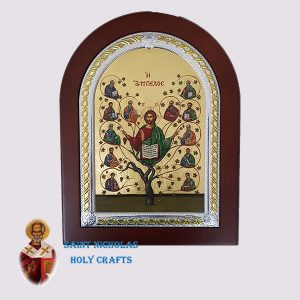 Olive-Wood-Saint-Nicholas-Holy-Crafts-Olive-Wood-Tree-Of-Life-Frame-Nikolaus-Silver-Icon