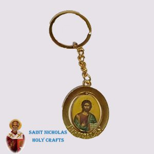 Olive-Wood-Saint-Nicholas-Holy-Crafts-Olive-Wood-Twist-Key-Chain