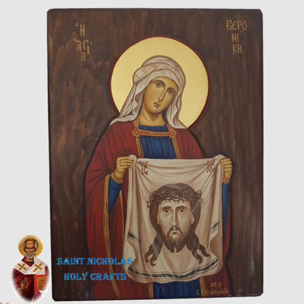 Olive-Wood-Saint-Nicholas-Holy-Crafts-Olive-Wood-Veronica-Hand-Painted-Icon