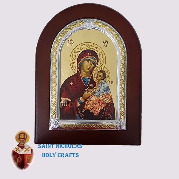 Olive-Wood-Saint-Nicholas-Holy-Crafts-Olive-Wood-Virgin-Frame-Nikolaus-Silver-Icon