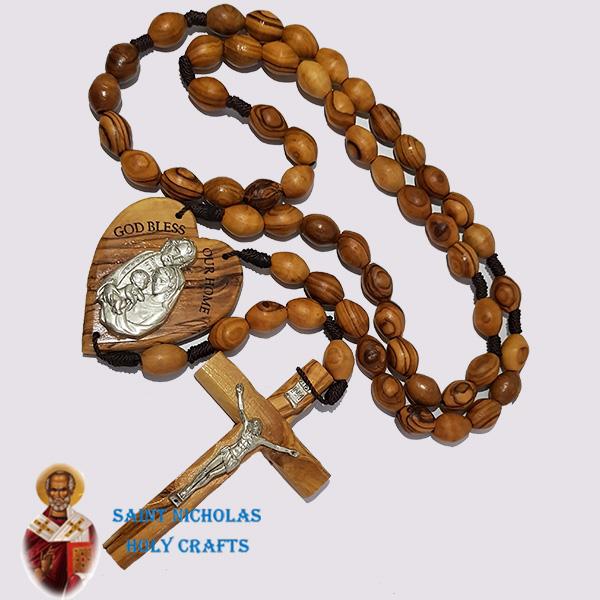 Olive-Wood-Saint-Nicholas-Holy-Crafts-Olive-Wood-Wall-Hanging-Olive-Wood-Rosary