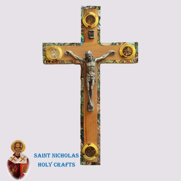 olive-wood-saint-nicholas-holy-crafts-olive-wood-Frame.-Mother-Of-Pearl-Cross