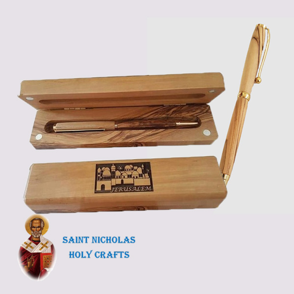Olive-Wood-Saint-Nicholas-Holy-Crafts-Olive-Wood-Olive-Wood-Pen-With-Box