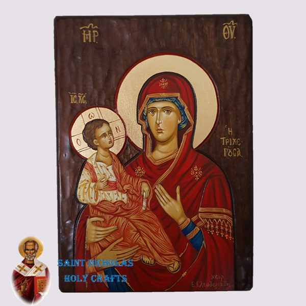 Olive-Wood-Saint-Nicholas-Holy-Crafts-Olive-Wood-3-Hands-Hand-Painted-Icon