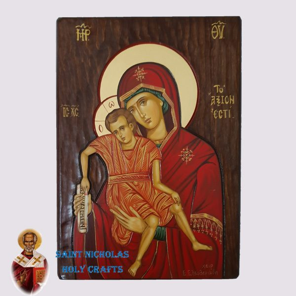 Olive-Wood-Saint-Nicholas-Holy-Crafts-Olive-Wood-Axion-Este-Hand-Painted-Icon