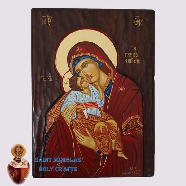 Olive-Wood-Saint-Nicholas-Holy-Crafts-Olive-Wood-Glikofilousa-Hand-Painted-Icon