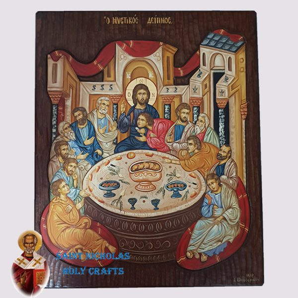 Olive-Wood-Saint-Nicholas-Holy-Crafts-Olive-Wood-Last-Supper-Hand-Painted-Icon