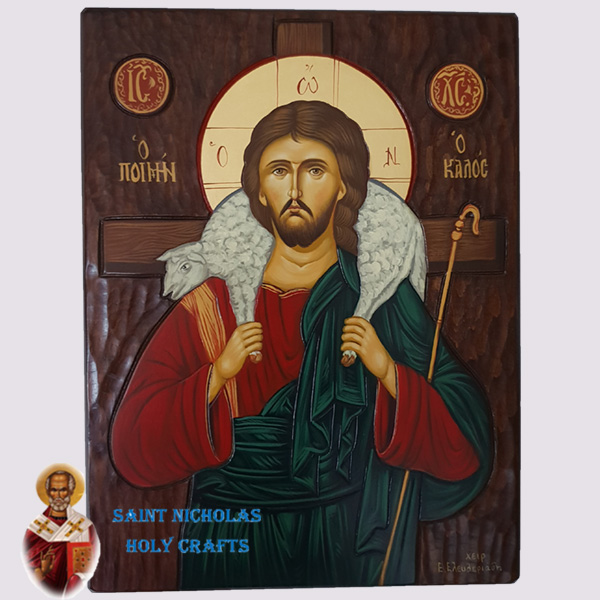 Olive-Wood-Saint-Nicholas-Holy-Crafts-Olive-Wood-The-Good-Shepherd-Hand-Painted-Icon