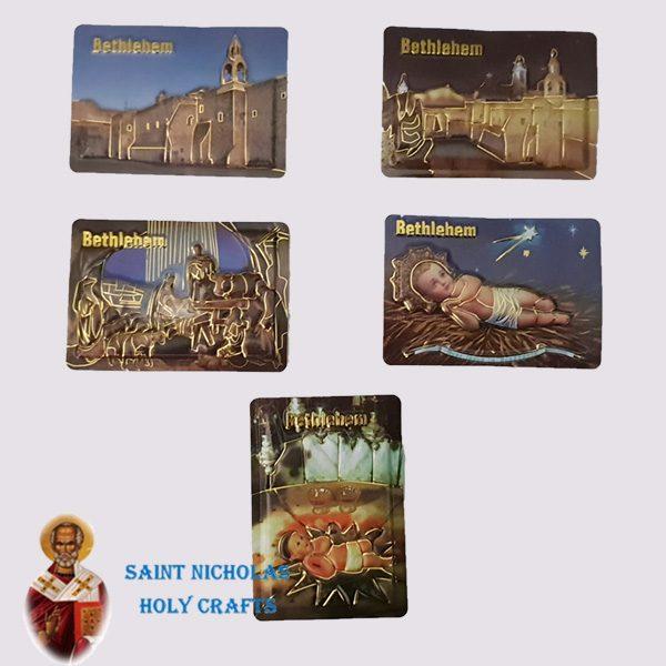 Olive-Wood-Saint-Nicholas-Holy-Crafts-Bethlehem-Leather-Magnet