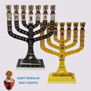 Olive-Wood-Saint-Nicholas-Holy-Crafts-Menorah