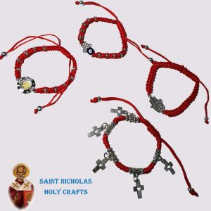 Olive-Wood-Saint-Nicholas-Holy-Crafts-Olive-Wood-Thread-Bracelet-with-Crosses
