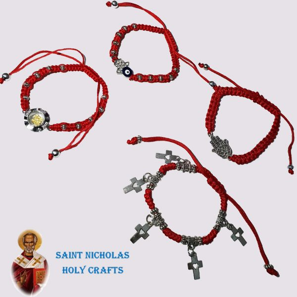Olive-Wood-Saint-Nicholas-Holy-Crafts-Olive-Wood-Thread-Bracelet-with-Crosses