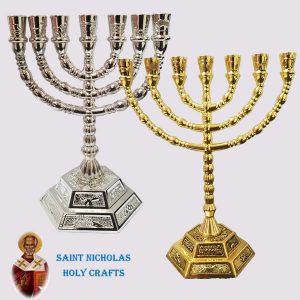 Olive-Wood-Saint-Nicholas-Holy-Crafts-Rounded-Menorah