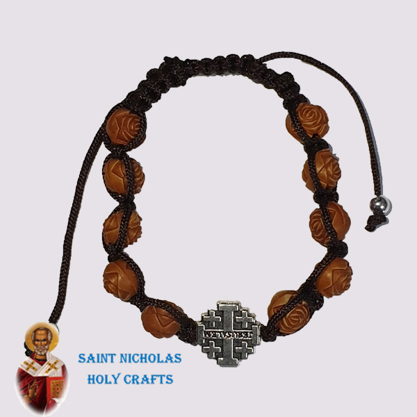 Olive-Wood-Saint-Nicholas-Holy-Crafts-Brown-engraved-Brecelets