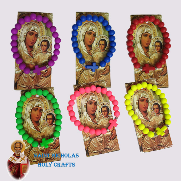 Olive-Wood-Saint-Nicholas-Holy-Crafts-Colorful-Bracelets